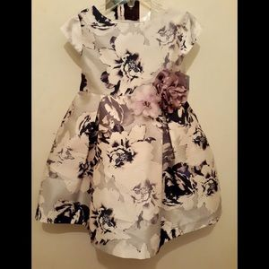 PASTOURELLE LAVENDER FLORAL PRINTED GIRL DRESS